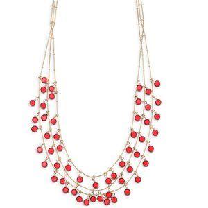 Anne Klein Beacon 3-Row Shaky Necklace